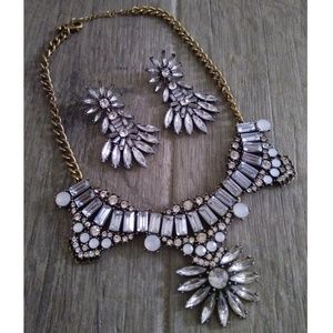 Forever 21 Statement Earring and Necklace Set